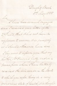 1855 Legal Property Stocks & Shares Victorian Letter
