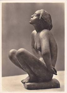RP; German NAZI Era Art, Nude Woman, Georg Klobe: Kauernde, Bronze 1917, Priv...