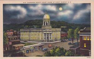 North Carolina Murphy Cherokee County Court House At Night