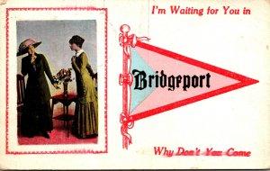 Pennsylvania Bridgeport I'm Waiting For You 1914 Pennant Series