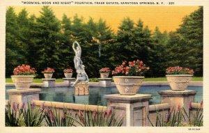 NY - Saratoga Springs. Trask Estate, Fountain