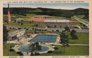 Tennesse Kingsport Legion Pool With Civic Auditorium And J Fred Johnson Park ...
