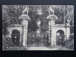 Leicestershire STAUNTON HAROLD HALL The Golden Gates - Old Postcard by E. Martin