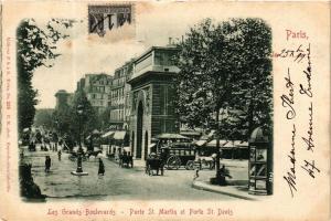 CPA PARIS 10e Les Grands Boulevards. Porte St-Martin et St. Denis (562251)