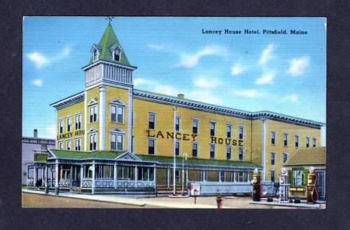 Me Lancey House Hotel Pittsfield Maine Postcard Old Pc