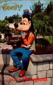 Amusement Disneyland Anaheim California Goofy  Anaheim Postcard 12401