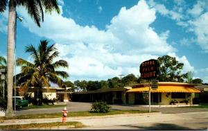 Florida Fort Myers Royal Palm Court 1958