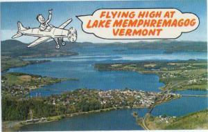 Air View of Newport & Lake Memphremagog Vermont VT