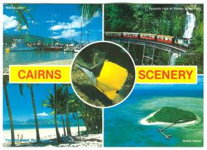 Australia, CAIRNS scenery, 1991 used Postcard