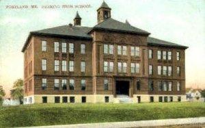 Deering High School in Portland, Maine