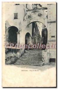 Old Postcard Menton Place St. Michel
