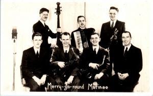 RPPC  MUSICAL GROUP    MERRY-GO-ROUND MATINEE   c1930s   Postcard