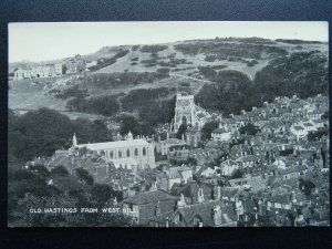 Sussex OLD HASTINGS From West Hill - Old RP Postcard by Sussex Photo Co.