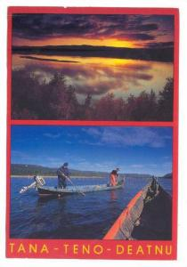 TANA - TENO - DEATNU, Sunrise over the lake, Salmon fishing from the river bo...