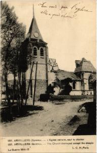 CPA  Arvillers (Somme) - L'Eglise detruite, sauf le clocher   (515363)