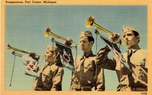 U.S. Military. Fort Custer, MI. Trumpeteers