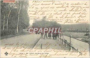 Old Postcard Vichy Allier Allier Quays Children (map 1900)