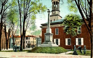 PA - Carlisle. Cumberland County Courthouse & Soldiers Monument