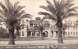 Texas Tx Postcard Real Photo RPPC c1930s McALLEN Hotel Casa De Palmas