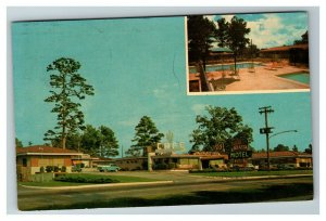 The Atlanta Motel, Cactus Cafe and Grill, Jonesboro GA c1964 Chrome Postcard I14