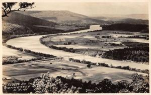 Valley Of The Tennessee River Birdseye View Real Photo Antique Postcard K17795