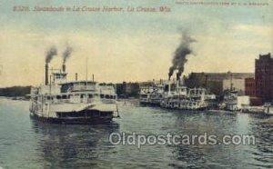 Steamboats La Crosse Harbor, La Crosse, Wis, USA Ferry Boats, Ship Unused