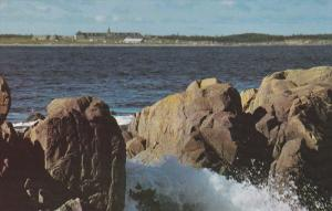 Louisbourg Harbour , reconstructed Chateau ST LOUIS , Nova Scotia , 50-60s