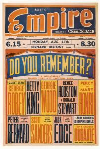 George Robey Hetty King Live Musical Variety Nottingham Empire Theatre Poster...