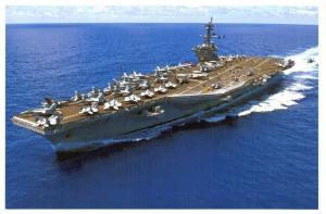 Postcard US Navy Aircraft Carrier USS Carl Vinson CVN-70 2015 F27