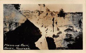LP08  RPPC  Baker Montana Postcard Medicine Rock another view