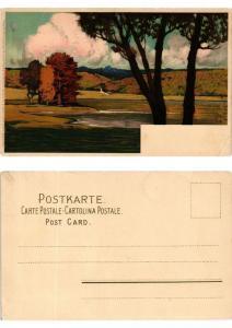 CPA Abseits der grossen Strasse Meissner & Buch Litho Serie 1215 (730413)