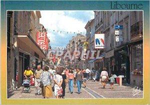 Postcard Modern Libourne La Rue Gambetta