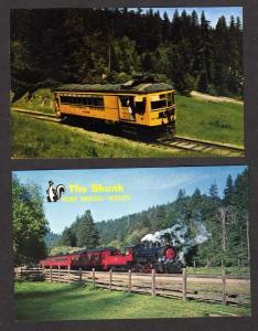CA Lot 2 Train FT BRAGG WILLITS CALIFORNIA Postcards