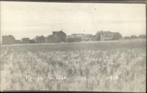 Roslyn SD General View 1914 Real Photo Postcard