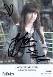 Jacqueline Jossa as Lauren Branning BBC Eastenders Hand Signed Cast Card Photo