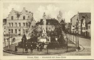 germany, DÜREN, Rhl., Altenteich mit Anna-Säule (1910s)