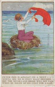 Peter Pan Neverland Antique Comic Postcard