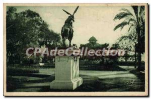Old Postcard Menton In the Gardens of Carel