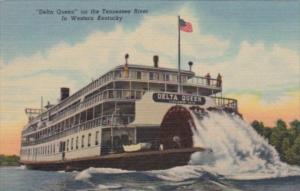 Paddle Wheel Steamer Delta Queen On The Tennessee River In Western Kentucky C...