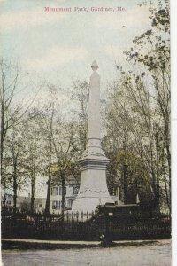 GARDINER , Maine , 1900-10s ; Monument Park