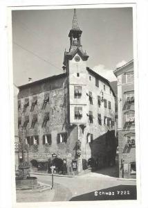 RP, Partial Street View, Schwaz, Tyrol, Austria, 1920-1940s