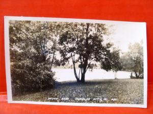 Postcard IA Charles CIty Bayou Bend 1930 RPPC Real Photo