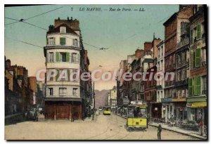 Old Postcard Le Havre Rue De Paris