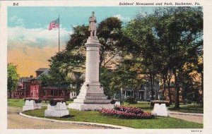 Pennsylvania Rochester Soldiers Monument And Park