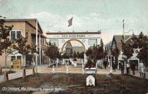 LPS97 Old Orchard Maine Entrance to Seaside Park Vintage Postcard