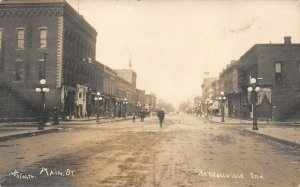LP90  Kendallville Indiana Postcard Main St RPPC