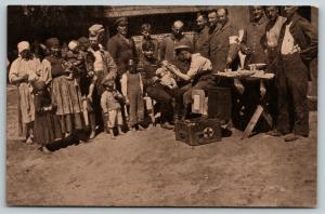German Red Cross Give Free Medical Car to Polish Villagers During WWI Occupation