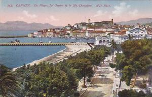 La Plage, Le Casino Et Le Mt. Chevalier, Cannes (Alpes Maritimes), France, 19...