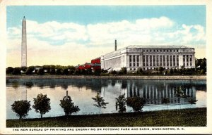 Washington D C New Bureau Of Printing and Engraving On Potomac Park and Basin