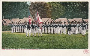 WEST POINT, New York, 1900-1910s; Inspection Of Battalion With Color Guard